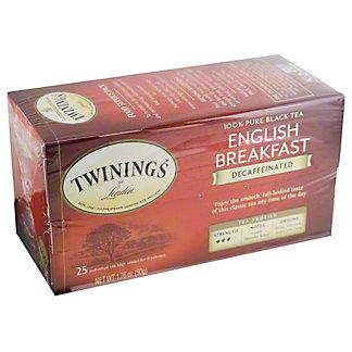 Twinings English Breakfast Decaffeinated Tea, 25 ct