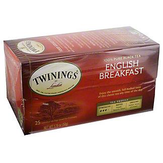 Twinings English Breakfast Black Tea Bags, 25 ct