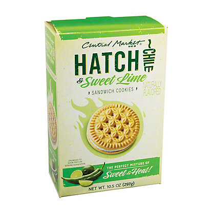 Central Market Hatch Chile and Lime Sandwich Cookies, 10.5 oz