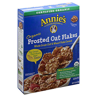 Annie's Homegrown Organic Cereal Frosted Oak Flakes, 10.80 oz