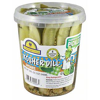 Farm Ridge Foods Kosher Dill Spears, 32 oz