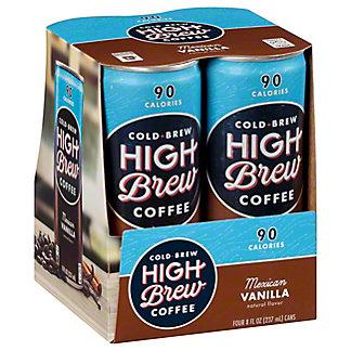 High Brew Coffee Mexican Vanilla,4/8 oz