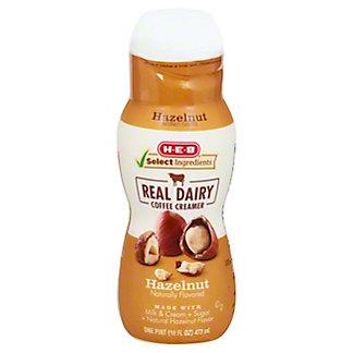 H-E-B Select Ingredients Hazelnut Creamer, 16 oz