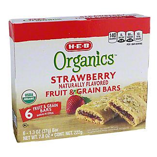 H-E-B Organics Strawberry Fruit & Grain Bars,7.8 OZ
