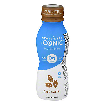 Iconic Protein Drink Cafe Au Lait, 11.5 oz