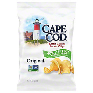 Cape Cod Kettle Chips 40% Reduced Fat,2.5 oz