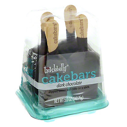 Ticklebelly Dark Chocolate Cake Bars, 4 ct