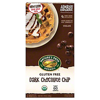 Nature's Path Organic Gluten Free Selections Dark Chocolate Chip Waffles, 6 ct