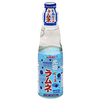 Kimura Ramune Original Carbonated Soft Drink, 6.76 oz