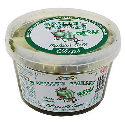Grillos Pickles Italian Dill Chips,16 OZ