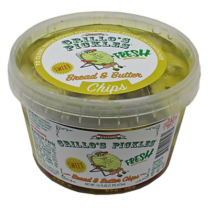 Grillos Pickles Bread and Butter Chips,16 OZ