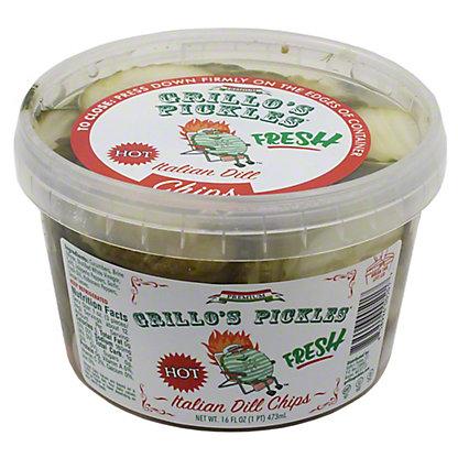 Grillos Pickles Hot Italian Dill Chips,16 OZ