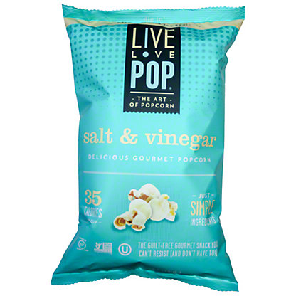 Live Love Pop Salt N Vinegar Popcorn,4.4OZ