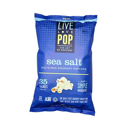 Live Love Pop Sea Salt Popcorn,4.4OZ