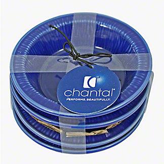 Chantal 3.5 Inch Blue Tart Dishes, 4 ct