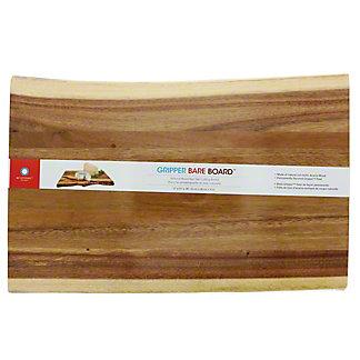 "Architec Gripper Bareboard Raw Edge Acacia, 11"" x 17"" Cutting Board, ea"