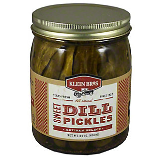 Klein Brothers Sweet Dill Pickles, 24OZ
