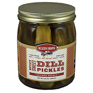 Klein Bros Artisan Select Sweet Spicy Dill Pickles,24.00 oz