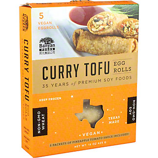 Banyan Curry Tofu Egg Rolls,15OZ