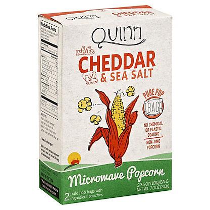 Quinn Quinn White Cheddar Microwave Popcorn,2.00 ea