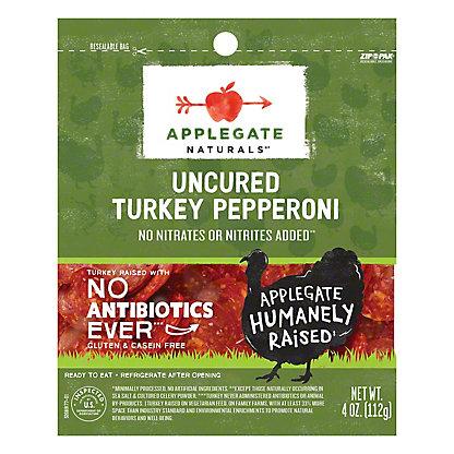 Applegate Natural Mini Turkey Pepperoni Slices,4 oz