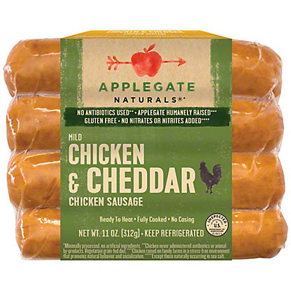 Applegate Natural Chicken Cheddar Sausage,4 ct