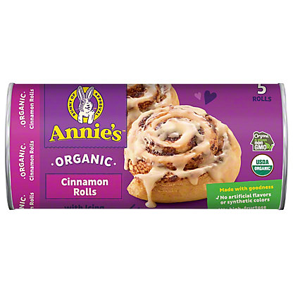 Annie's Homegrown Organic Cinnamon Rolls with Icing, 5 ct