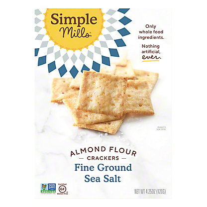 Simple Mills Simple Mills Ground Salt Almond Flour Crackers,4.25 oz