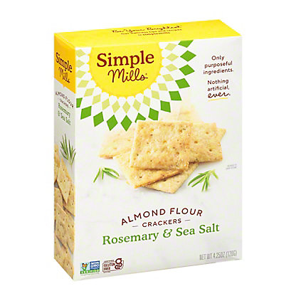 SIMPLE MILLS Sea Salt Rosemary Almond Flour Cracker, 4.25 oz