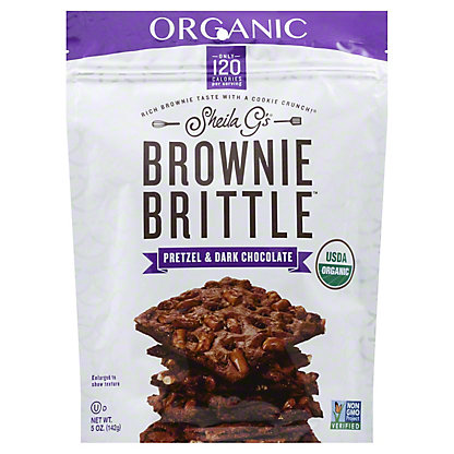 SHEILA GS Brownie Brittle Organic Pretzel And Dark Chocolate,5OZ