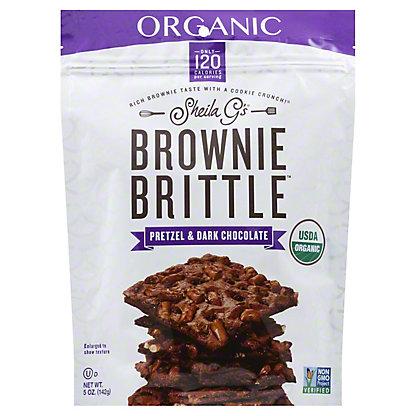 SHEILA GS Brownie Brittle Organic Pretzel And Dark Chocolate,5OZ