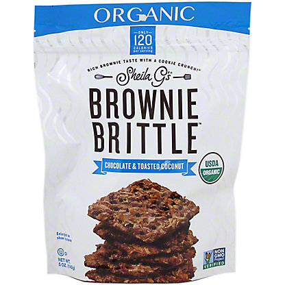 SHEILA GS Brownie Brittle Organic Chocolate Toasted Coconut,5OZ
