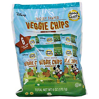 Good Health Veggie Chip Disney 6 PK,6 OZ