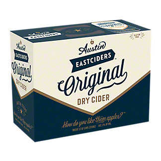 Austin Eastciders Original Dry Cider,12/12 oz