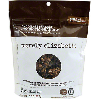 Purely Elizabeth Probiotic Granola Chocolate Sea Salt, 8 oz