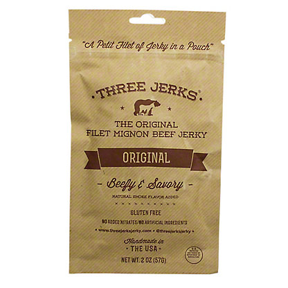 Three Jerks Jerky Original,2 oz