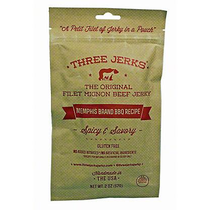 Three Jerks Jerky Memphis Brand BBQ,2 oz