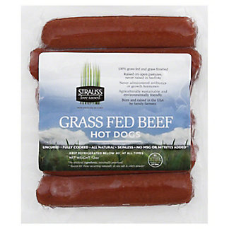 Strauss Grass Fed Beef Hot Dogs,12 OZ