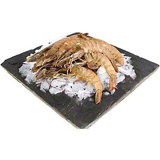 Central Market Head-On Tiger Prawn Shrimp U-6 Previously Frozen, lb