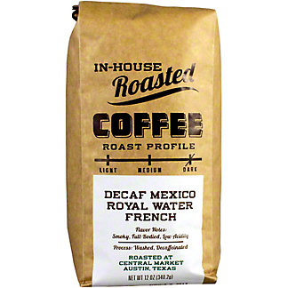 Central Market Mexican Royal Water French Decaf Coffee, 12 oz