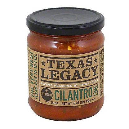 Texas Legacy Salsa Cilantro Lime Medium,16 OZ