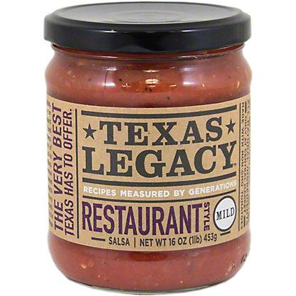 Texas Legacy Restaurant Style Mild Salsa,16 oz
