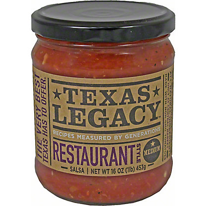 Texas Legacy Salsa Restaurant Style Medium,16 OZ