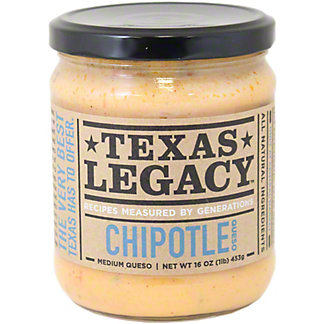 Texas Legacy Chipotle Queso Medium,16 oz