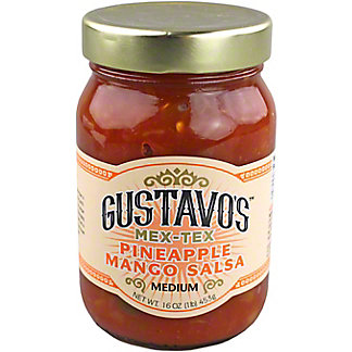 Gustavos Salsa Mango Pineapple, 16 oz