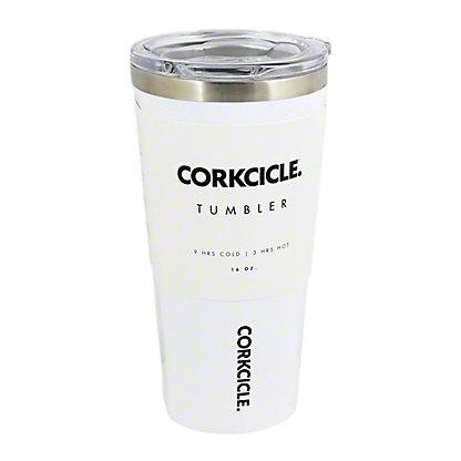 Corkcicle 16 OZ White Tumbler, ea
