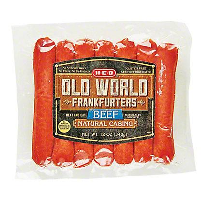 H-E-B Old World Beef Frankfurter,12 OZ