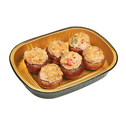 H-E-B Meal Simple Spicy Crab Stuffed Mushrooms, lb