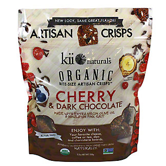 Kii Naturals Organic Cherry & Dark Chocolate Crisps, 5.3 oz