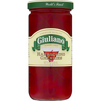 Giuliano Maraschino Cherries with Stem, 8 oz